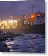 Ribeira Grande At Night Metal Print