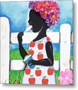 Rice Cream Girl Metal Print