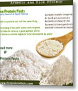 Rice Protein And Arsenic Metal Print