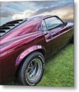 Rich Cherry - '69 Mustang Metal Print