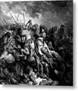Richard I The Lionheart In Battle At Arsuf In 1191 1877 Metal Print