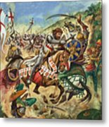 Richard The Lionheart During The Crusades Metal Print