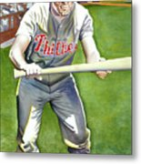 Richie Ashburn Topps Metal Print by Robert  Myers