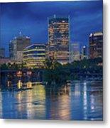Richmond Skyline Above James River At Night 11972 Metal Print
