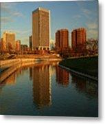 Richmond Skyline And Canal Metal Print