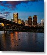 Richmond Skyline At Night Metal Print