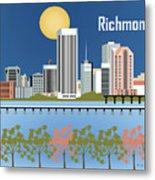 Richmond Virginia Horizontal Skyline Metal Print