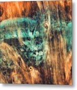 Riddicks World Watercolor Painting Metal Print