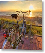 Ride Off Into The Sunset Metal Print