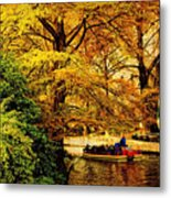 Ride On The Boat Metal Print
