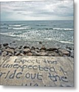 Ride Out The Wave Metal Print by Ty Helbach