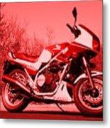 Ride Red Metal Print