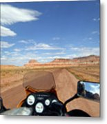 Ride To Little Wild Horse Slot Canyon Metal Print