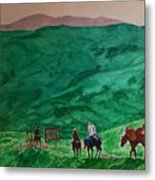 Riders In The Andes Metal Print