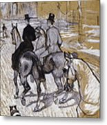 Riders On The Way To The Bois Du Bolougne Metal Print