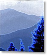 Ridge Layers 4 Ae Metal Print