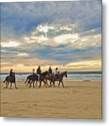 Riding At The Beach Metal Print