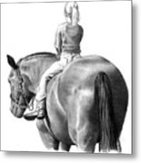 Riding Bareback No. 2 Metal Print