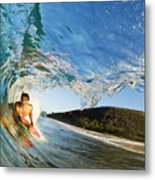 Riding Barrel At Makena Metal Print