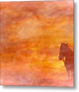Riding Into The Sunset Metal Print