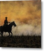 Riding The Fire Line Metal Print