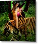 Riding The Tiger Metal Print