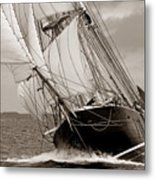 Riding The Wind -sepia Metal Print