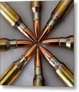 Rifle Ammuntion Metal Print