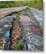 Rift In The Former Route 61 Metal Print