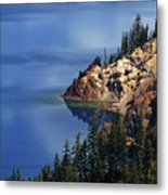 Right Side Of Crater Lake Oregon Metal Print