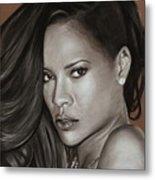 Rihanna Portrait Metal Print
