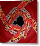 Ring Of Feathers - Abstract Metal Print