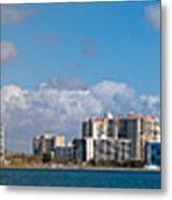 Ringling Causeway Sarasota Skyline West View Metal Print