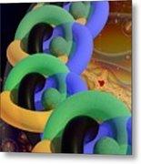 Rings And Spheres Metal Print