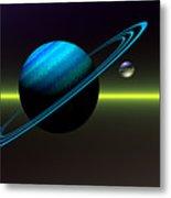 Rings Of Saturn Metal Print