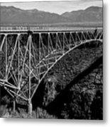 Rio Grande Bridge In New Mexico Metal Print