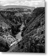 Rio Grande Carved Canyon 2 Metal Print