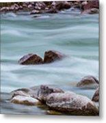 Rio Grande Flow Through Stones Metal Print