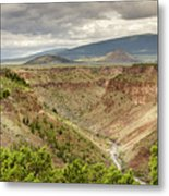 Rio Grande Gorge At Wild Rivers Recreation Area Metal Print