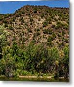 Rio Grande Panorama Pilar New Mexico Metal Print