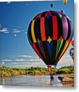 Rio Grande Splash Down, New Mexico Metal Print
