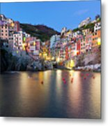 Riomaggiore After Sunset Metal Print