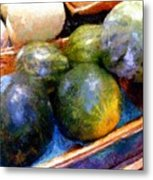 Ripe And Luscious Melons Metal Print