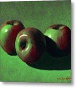 Ripe Apples Metal Print by Frank Wilson