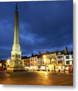Ripon Market Place At Dusk Metal Print