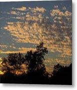 Ripple Clouds At Sunset Metal Print