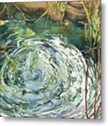 Ripple Pond Metal Print