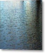 Ripples And Reflections Abstract Metal Print