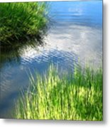 Clear And Gentle Flow Metal Print