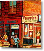 Ripples Ice Cream Factory Metal Print